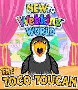 New to Webkinz World Toco Toucan