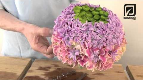 How to make Bridal Bouquet with spring flowers, Step by step