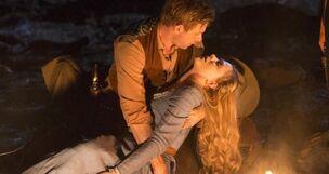 Dolores and William campfire