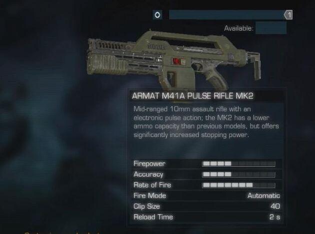 Armat M41A Pulse Rifle MK2