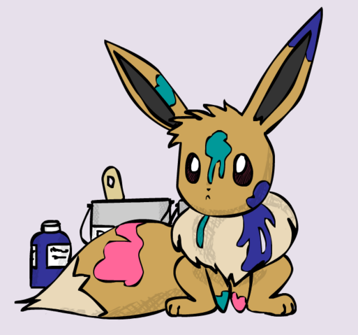 File:Eevee paints by sunnyfish-d2zhqsp.png