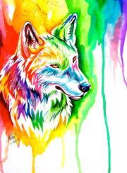 Ebay rainbow wolf by lucky978-d5s0y1p