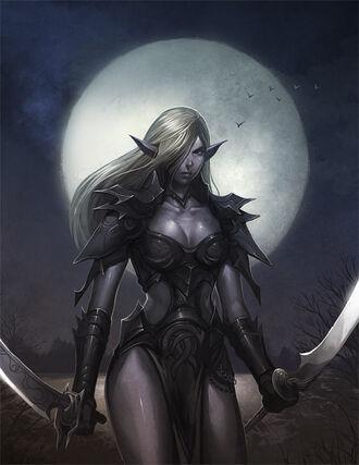 Dark Elf woman
