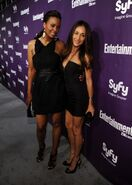WLIIA- Aisha Tyler with friend Maggie Q