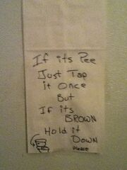Dirty Bathroom joke