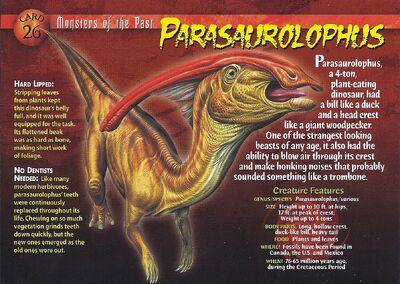Parasaurolophus front