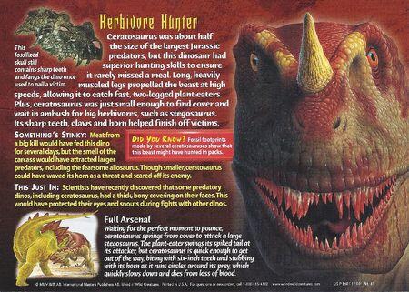 Ceratosaurus back
