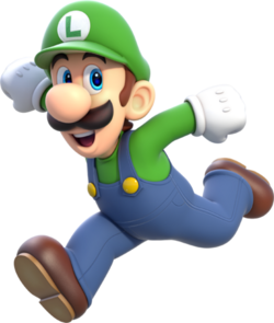 406px-Luigi Artwork - Super Mario 3D World