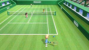 Wii tennis serve