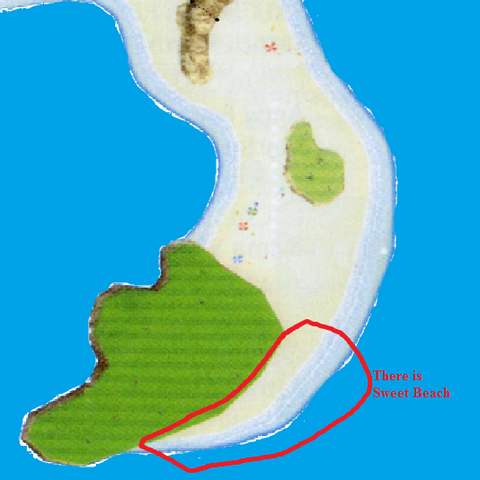 Sweet Beach on a map.
