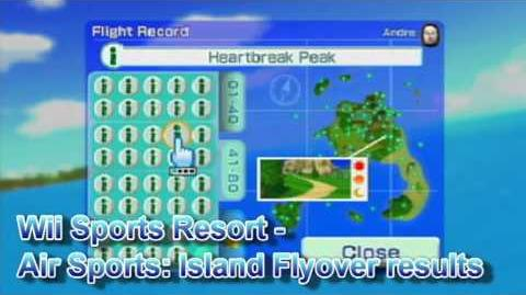 Wii Sports Resort - Air Sports Island Flyover Results Theme