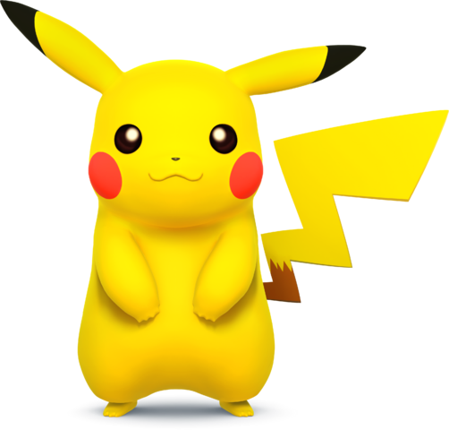 File:SSB4 - Pikachu Artwork.png