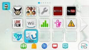 Wii U Menu screenshot