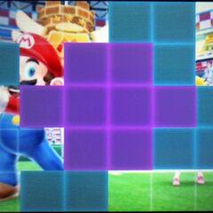 A halfway complete puzzle.