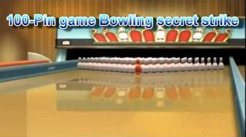 Wii Sports Resort - 100 Pin game Bowling secret strike