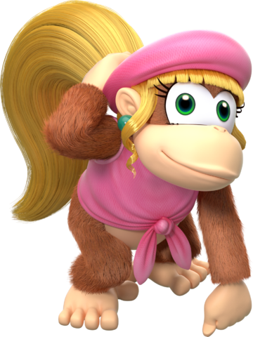 File:Dixie Kong - Donkey Kong Country Tropical Freeze.png