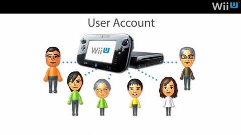 Accounts on Wii U