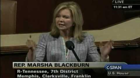 "Rep. Blackburn ""We're not going to cry 'emergency' every time we have a Katrina"