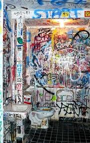 Graffiti-coveredBathroom