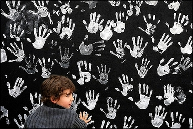 ChildHandprintsWall