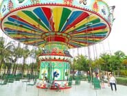 Baishamen Park - amusement park - swing ride - 01