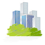 Land and building icon