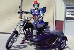 Sailor Fighter with Bike