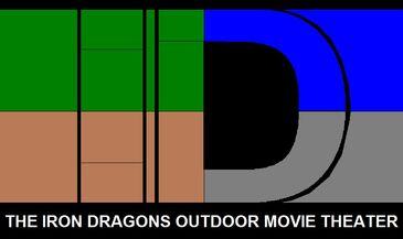Iron dragons outdoor movie theater new logo (2014)