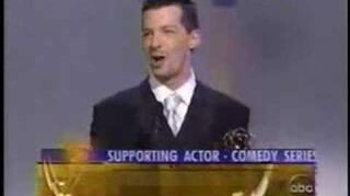 Sean Hayes wins 2000 Emmy Award for Supporting Actor in a Comedy Series
