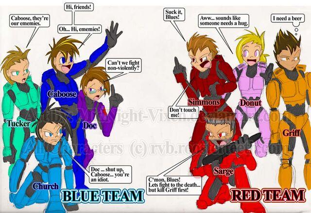 File:Red VS Blue fan art by MidNight Vixen.jpg