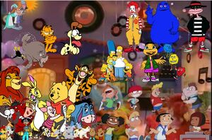 Pooh's Adventures of Big Bag Sock Hop Poster