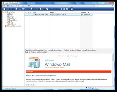 Windows Mail Vista