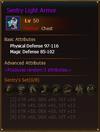 L50 HunterChest SentryLightArmor