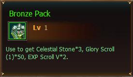 Items Bronze Pack