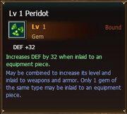 Peridot lvl1