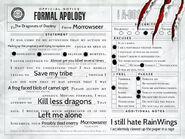 Morrow's Apology