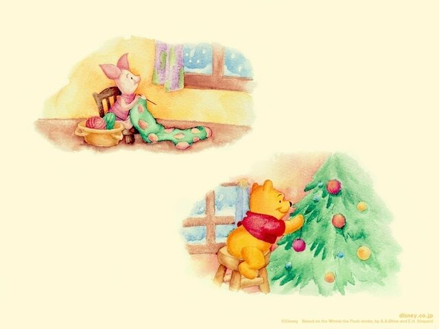 File:Pooh Wallpaper - Pooh and Piglet Christmas.jpg