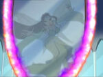 Morgana was vanished inside the mirror