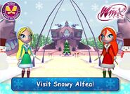 WFS - Alfea's Central Courtyard (Snowy)