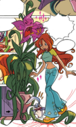 Winx Club Comic Chapter 1 page 18 - Flora's Talking Plant -1