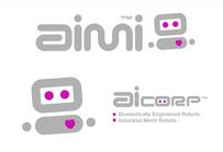 Aicom logo variations