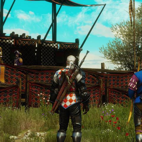 Horm standing next to Geralt