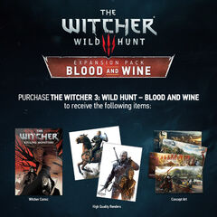 Blood and Wine purchase bonuses
