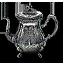 Tw3 silver teapot
