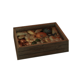 a crate for fruit or vegetables