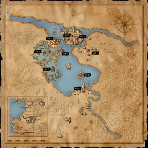 Мапа території навколо озера Визіма