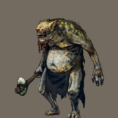The Witcher 3 Troll concept art.