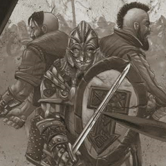 Barclay in full armor