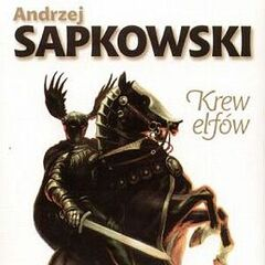Cahir on the Polish cover of <i>Blood of Elves</i>.