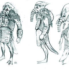 Szkic wojowników Dagona